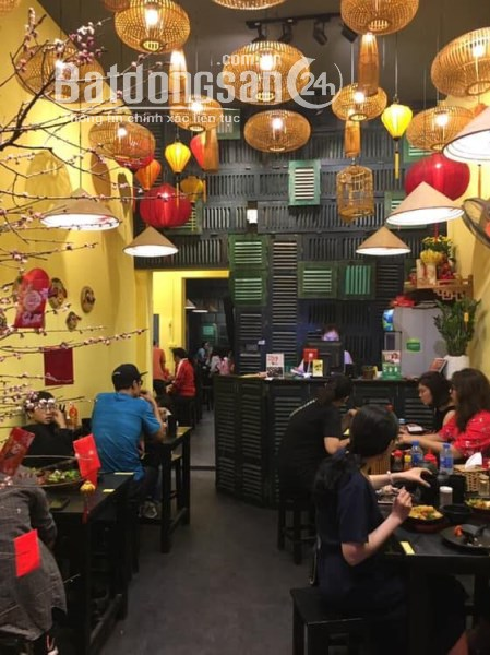 Cho thuê nhà làm hàng ăn mặt phố Khâm Thiên: 80m2, mặt tiền 4.2m.
