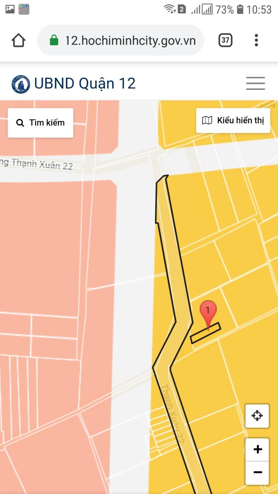 Bán đất mặt tiền Đường Thạnh Xuân 22, Phường Thạnh Xuân, Quận 12 DT: 5x23.5m SHR