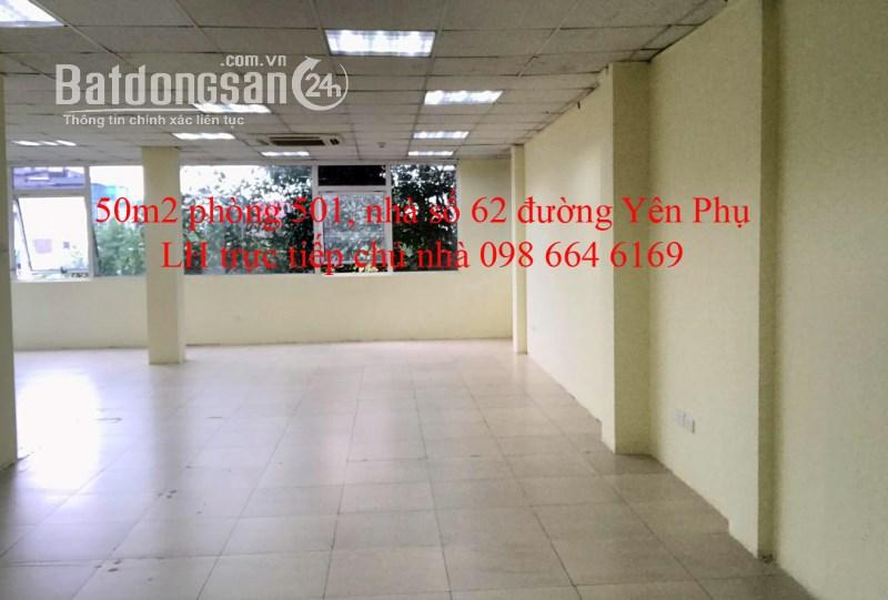 50m2 VP tại đường đôi Yên Phụ. Giá 10.5 triệu/tháng