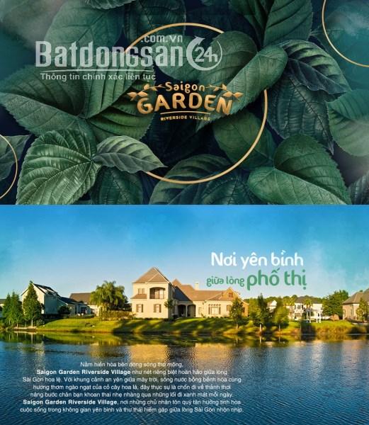 Biệt thự ven sông Sài Gòn Saigon Garden Riverside Village, giá 21tr/m2