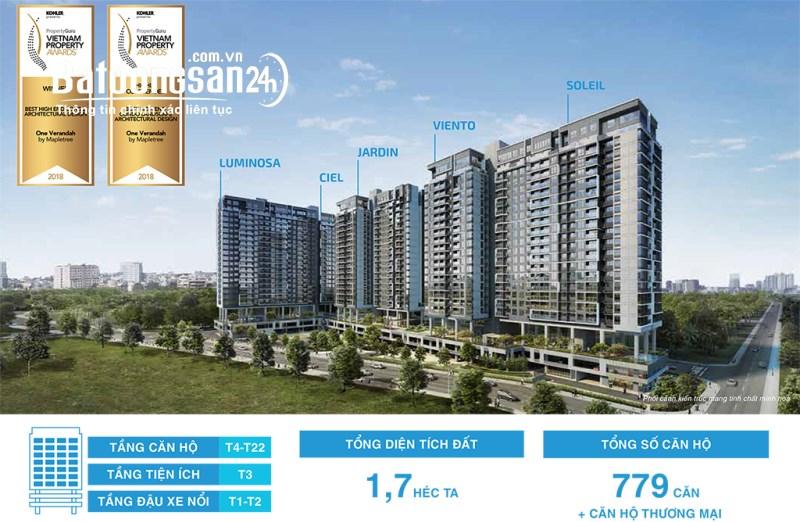 Cần bán căn hộ One Verandah 3PN - căn góc - view sông trực diện - tầng cao