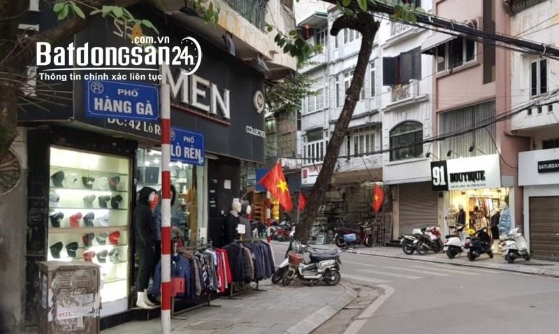 Bán nhà mặt phố Hàng Gà. Diện tích 38m2 - 5 Tầng xây mới, nở hậu. Giá 25,4 Tỷ