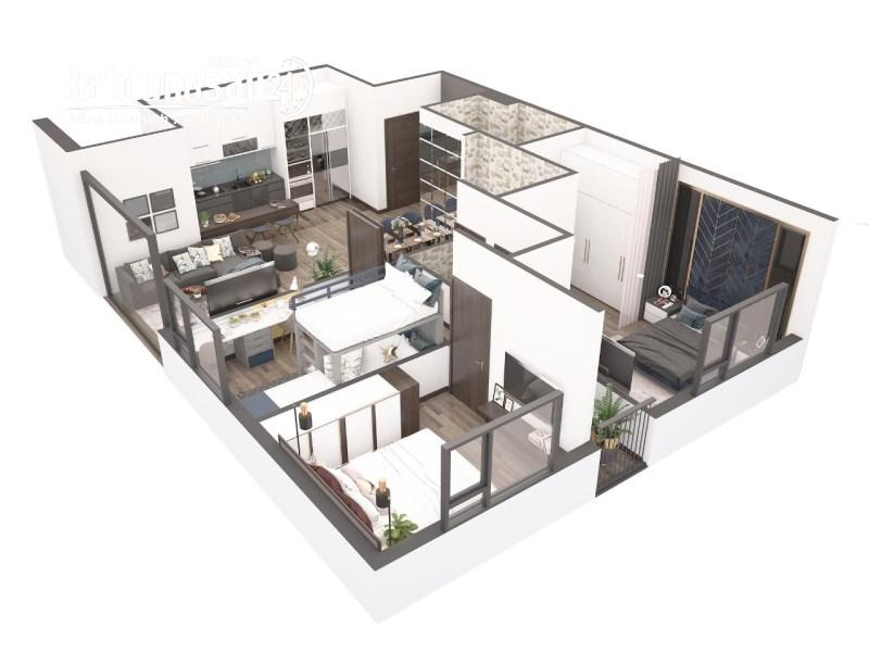 Bán căn hộ chung cư Aqua Park Bắc Giang, 3 ngủ, 2 vệ sinh, diện tích 90m2