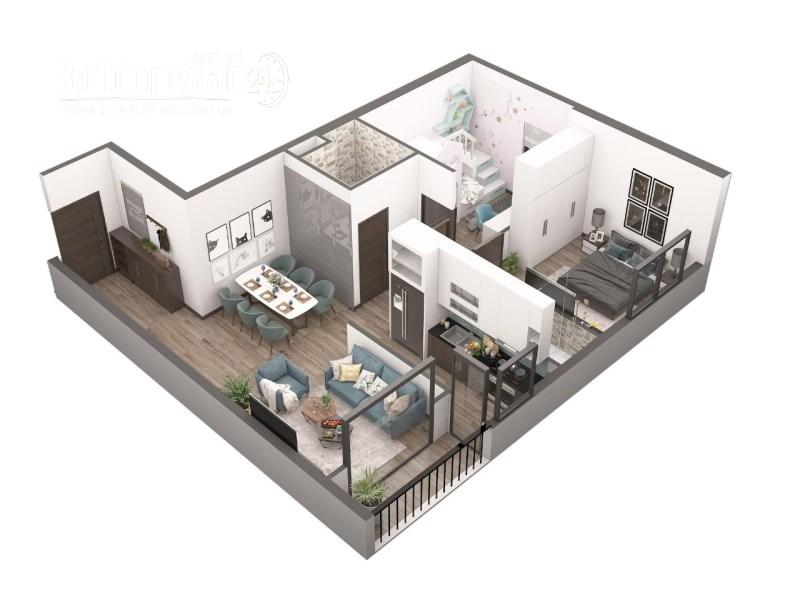 Bán căn hộ chung cư Aqua Park Bắc Giang, căn góc 2 ngủ,2 vệ sinh,diện tích 74m2