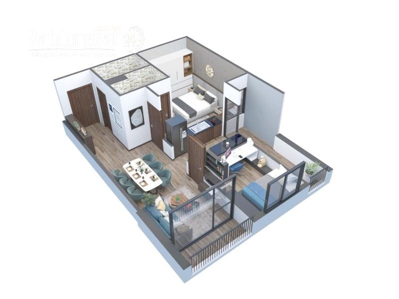 Bán căn hộ chung cư Aqua Park Bắc Giang,2 ngủ, 2 vệ sinh