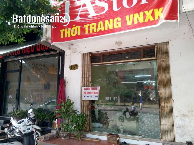 Cho thuê mặt bằng kinh doanh đường Minh Cầu TP Thái Nguyên liên hệ: