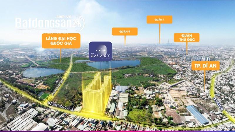 Dự án New Galaxy Hưng Thịnh - Căn góc 2PN 66m2 giá chỉ 2.2 tỷ, góp 3 năm LS 0%