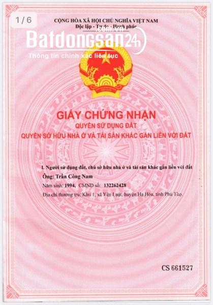 Chính chủ cần bán mảnh đất tại xã Văn Phú, tp Yên Bái, Tỉnh Yên Bái