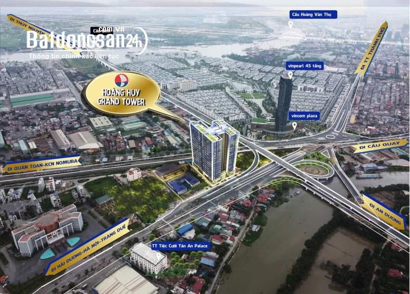 Bán căn hộ chung cư Hoàng Huy Grand Tower, view Đông Nam giá gốc CĐT
