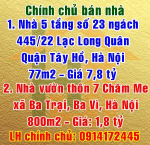 Bán nhà vườn thôn 7 Chăm Me, xã Ba Trại, Ba Vì, Hà Nội