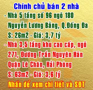 Bán nhà khu cao cấp ngõ 271 đường Trần Nguyên Hãn, Quận Lê Chân, Hải Phòng