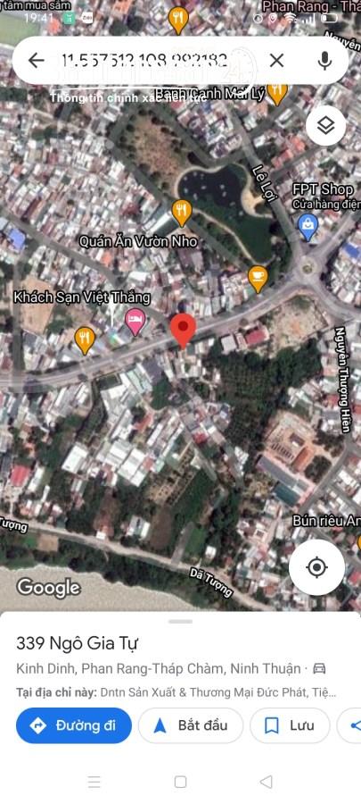 Bán 800m2 đất mặt tiền Đường Ngô Gia Tự, Phường Tấn Tài, Phan Rang - Tháp Chàm