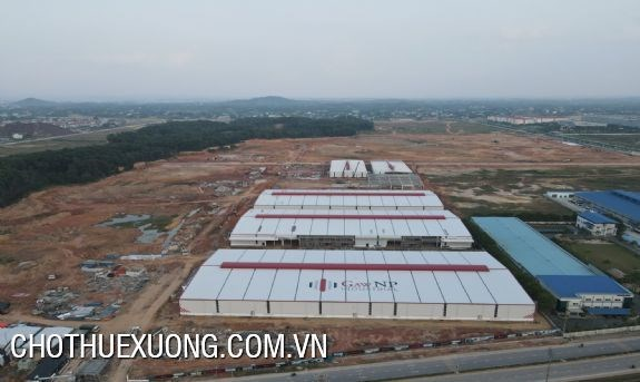 Cho thuê nhà xưởng tại GNP Thái Nguyên