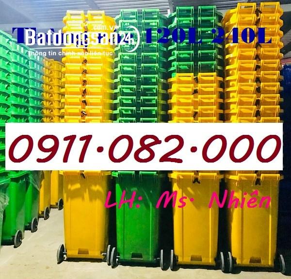 Khánh hoà- Nơi bỏ sỉ lẻ thùng rác nhựa, thùng rác 120L 240L giá rẻ