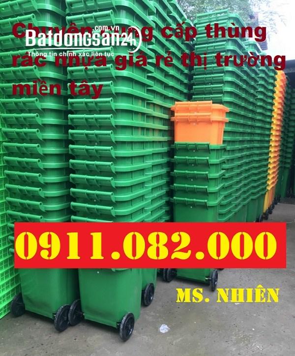 Phân phồi thùng rác 240 lit giá rẻ tại bình dương- thùng rác công nghiệp