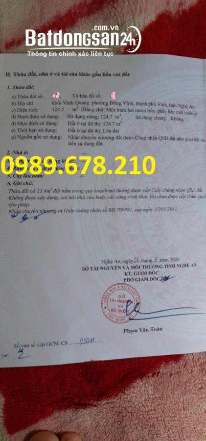 Bán đất Đường Trần Nhật Duật, Phường Đông Vĩnh, TP Vinh
