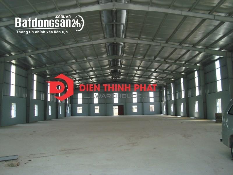 Cho thuê kho xưởng đường18B quận Bình Tân 800m2(20x40) giá 48tr container 40feet