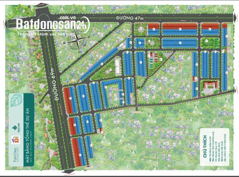 Đất nền sổ đỏ KĐT Tấn Đức- Phổ Yên, cạnh KCN Samsung. Vốn nhỏ, lời cao. LH ngay
