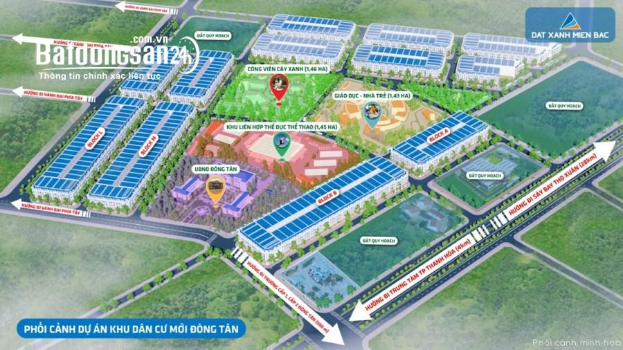 Bán đất nền phân lô bên cạnh UBND xã Đông Tân, TP Thanh Hoá