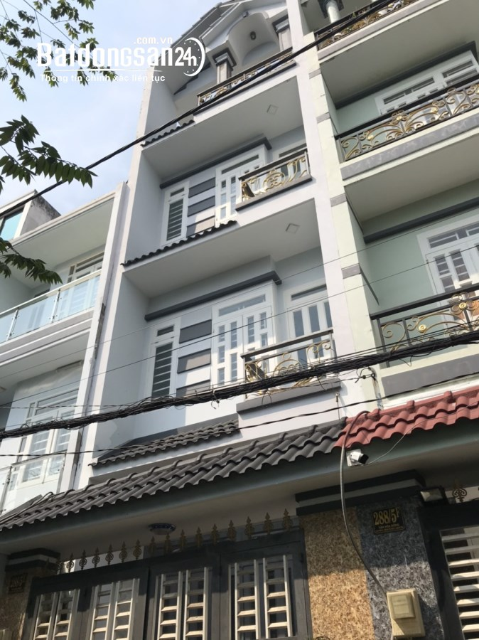 Cho thuê nhà NC 1 trệt 3 lầu 4x17 5pn HXH tại 288/5E Tân Hòa Đông P BTĐ Q BTân