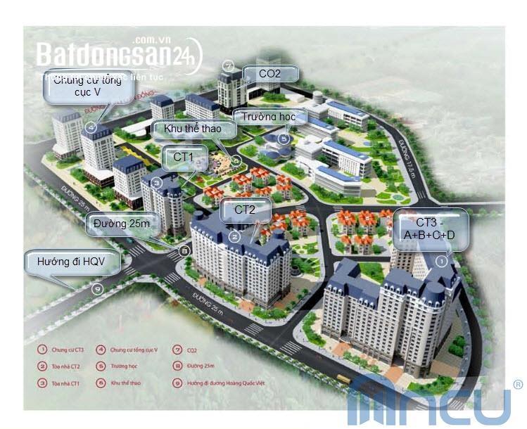 Chính chủ bán căn hộ CC Nam Cường- Hoàng Quốc Việt- 2PN và 3PN-từ 26,5 tr/m2.