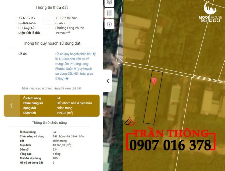 Bán đất quận 9 phường  long trường , 200m2 ngang 6,3m chỉ 5 tỷ 5