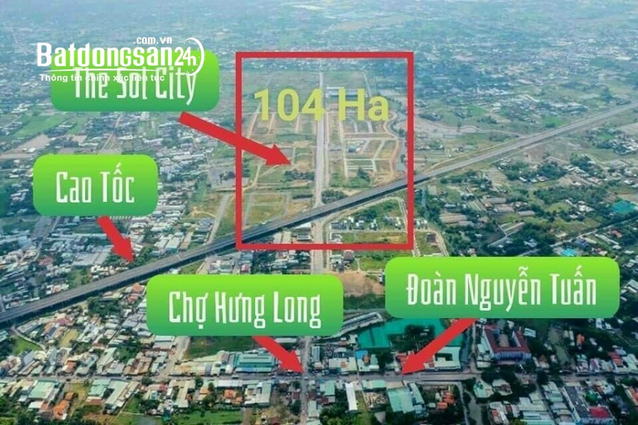 Đất nền ngay chợ Đường Đoàn Nguyễn Tuấn, Xã Long Thượng, Huyện Cần Giuộc