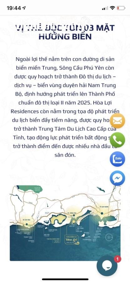 Bán Đất phân lô, bờ biển Hòa Lợi, Phú Yên, quá đẹp để xây khách sạn,