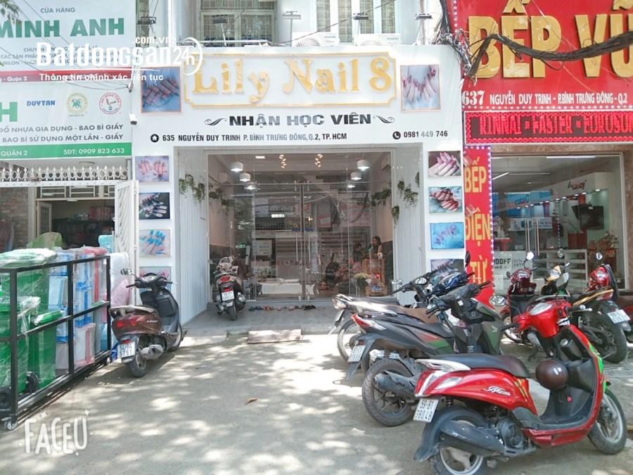 Chính chủ Sang tiệm Nail Mi có sẵn vật dụng Nhà mặt tiền 635 Nguyễn Duy Trinh Q2