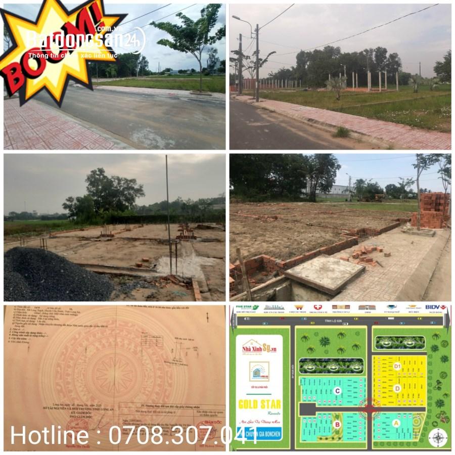 Bán đất Thổ cư Đường 835A, Xã Long Trạch, Huyện Cần Đước
