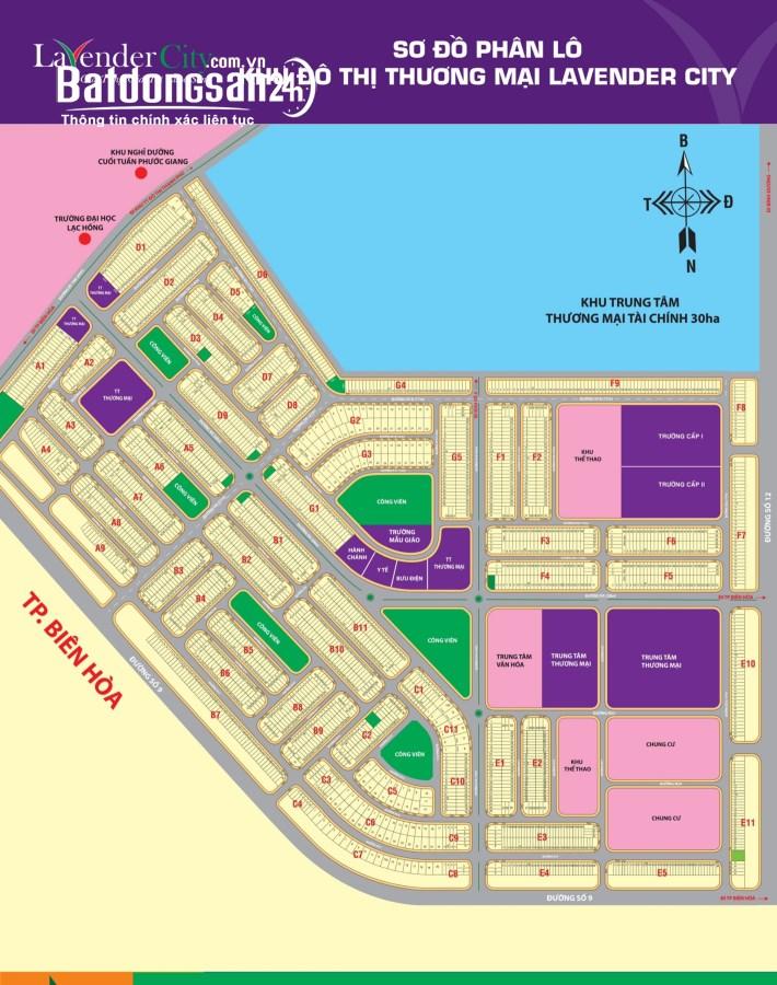50 lô đất sổ hồng riêng, mặt tiền đường lớn 12-28m. Giá chỉ từ 1,22 tỷ.