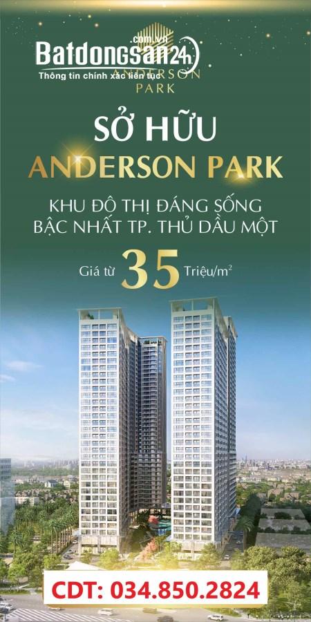 Mua nhà nhận lộc vàng. Anderson Park trải nghiệm căn hộ Resort 5 sao từ 35tr/m2