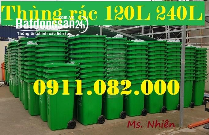 Xả kho thùng rác 240 lít giá rẻ tại cà mau