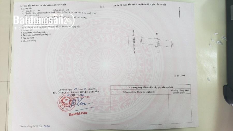 Đất nền trung tâm Chư Păh - giá chỉ từ 499 triệu/lô - LH 0965.268.349