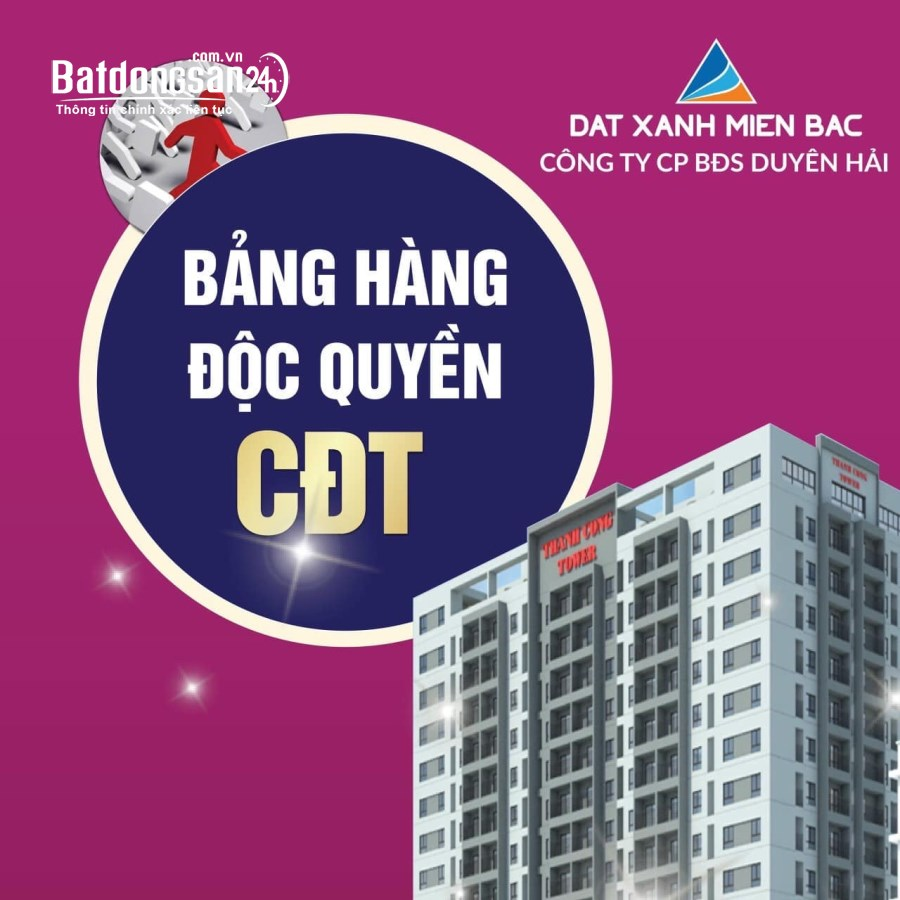 Chỉ 1 tỷ sở hữu ngay căn hộ đẹp nhất CC Thành Công 73m2, 02PN tại TP. Thái Bình