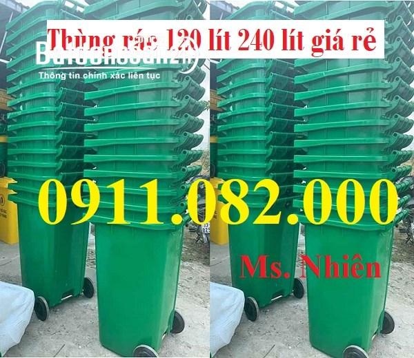 Bán thùng rác giá rẻ tại kiên giang- thùng rác 120 lít 240 lít 660 lít