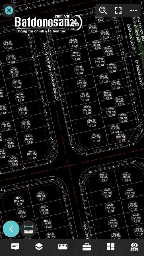 Bán lô Nhà vườn KĐT Tuệ Tĩnh, TP HD, 150m2, mt 8m, hướng Tây, giá tốt, vị trí