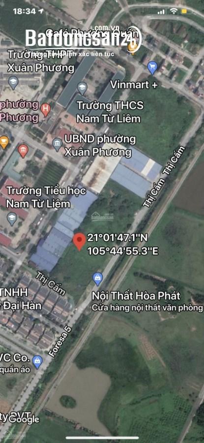 Bán dự án chung cư cao tầng tại Lô CT5E khu đô thị mới Xuân Phương, NTL: 3458m2
