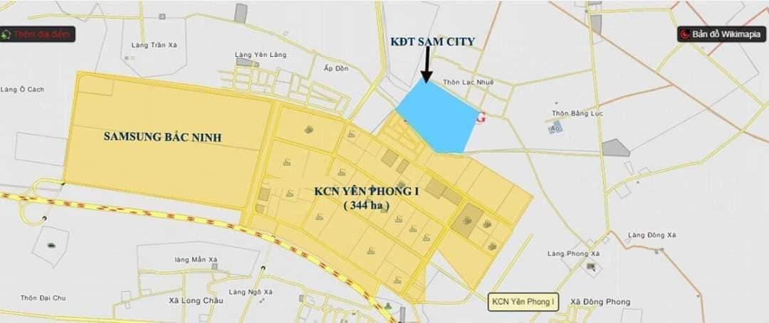 Đất nền KCN SamSung  Yên Phong- Bắc Ninh