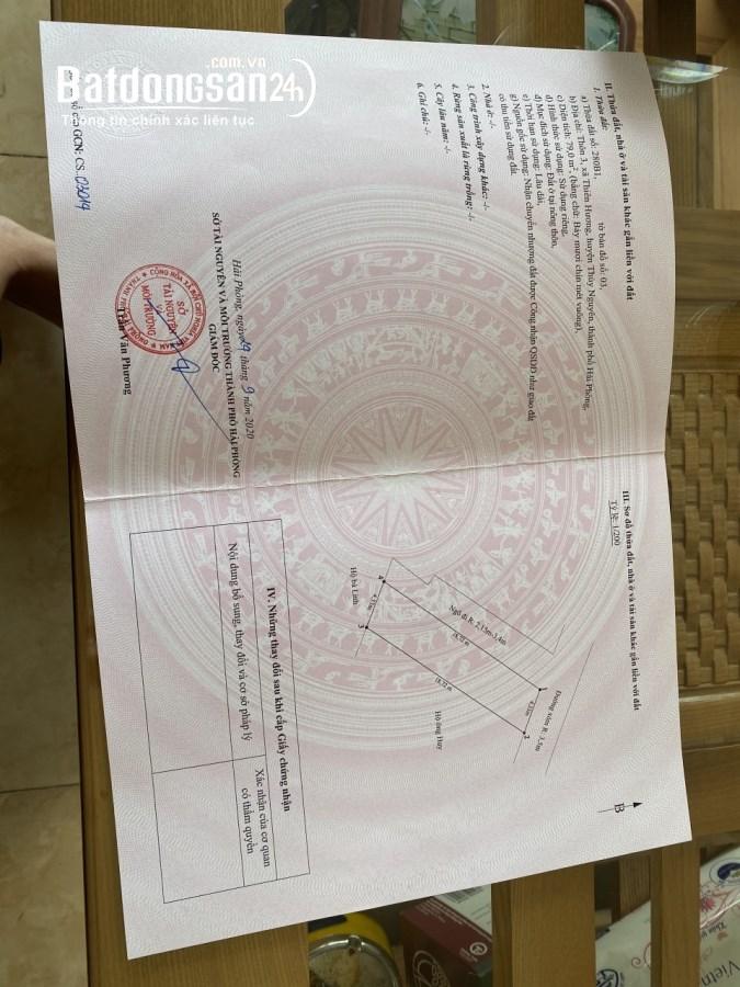 Bán đất Đường Liên Xã, Xã Thiên Hương, Huyện Thuỷ Nguyên