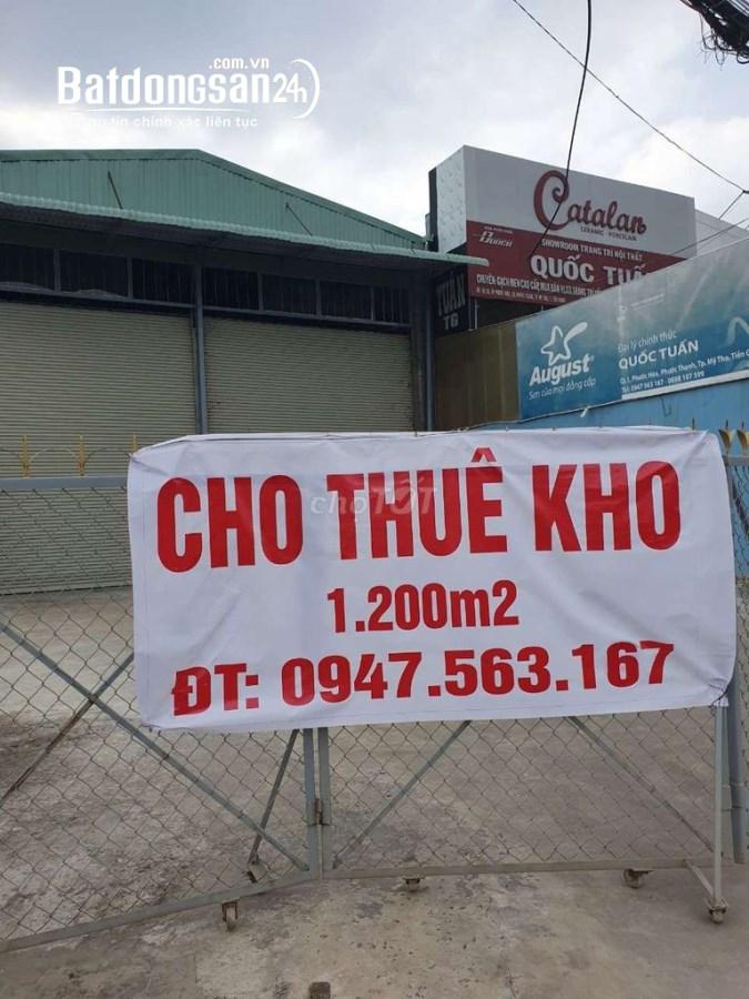 Cho thuê khu mặt tiền QL1A Tp Mỹ Tho - Tiền Giang