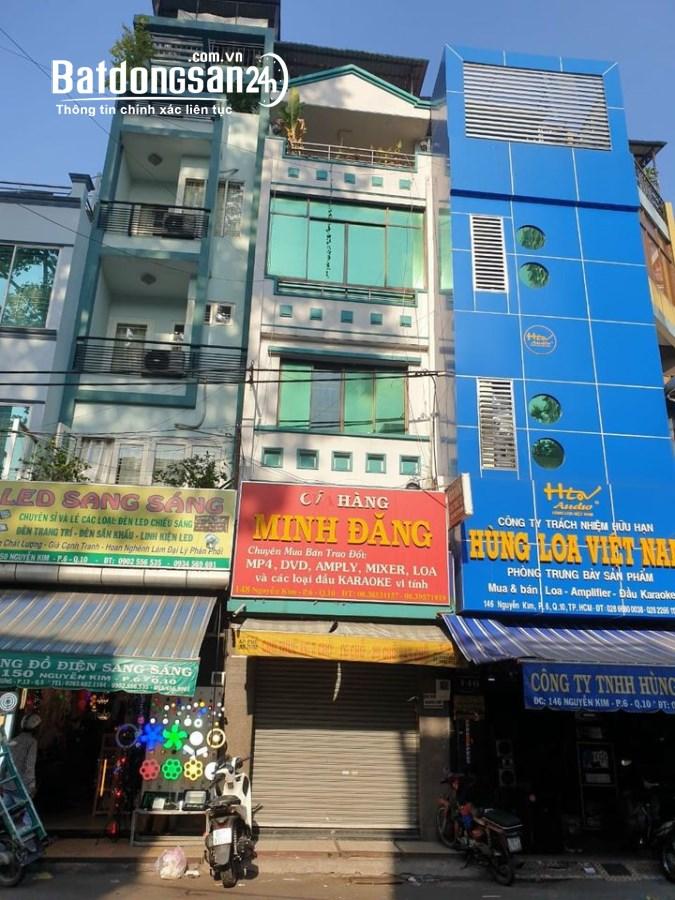 Cần cho thuê nguyên căn 148 Nguyễn Kim P6 Q10 trệt 4 lầu