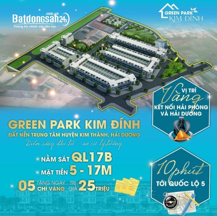 Lô góc 2 mặt tiền giá siêu mềm tại dự án Green Park Kim Đính.