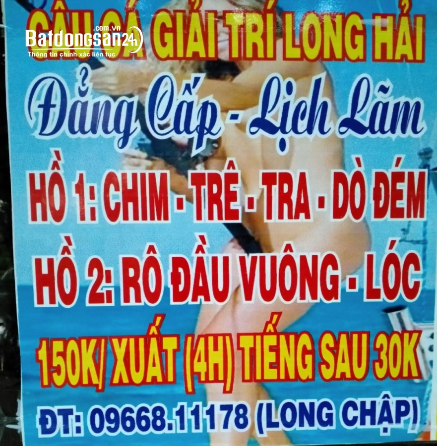 Hồ câu Long Hải - dịch vụ câu cá giải trí - lh: 0966811178