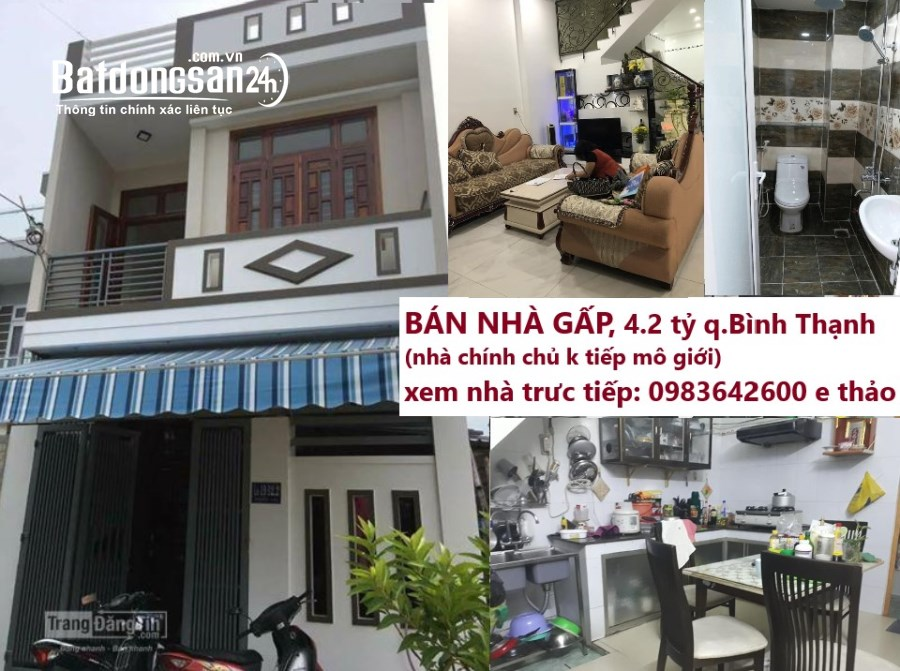 Bán nhà Đường Lê Quang Định, Phường 14, Quận Bình Thạnh