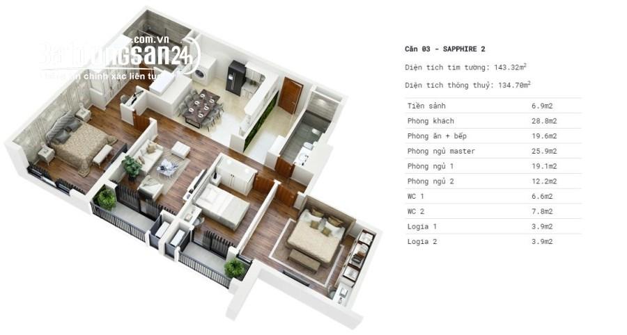 Bán nhanh căn VIP đặc biệt Goldmark city giá 24.6tr/m2/ 134m2 LH: 0969191230