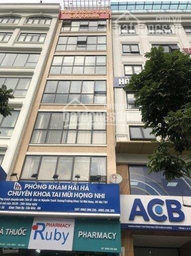 Cho thuê VP 100m2, phố Khúc Thừa Dụ thông sàn, điều hòa âm trần
