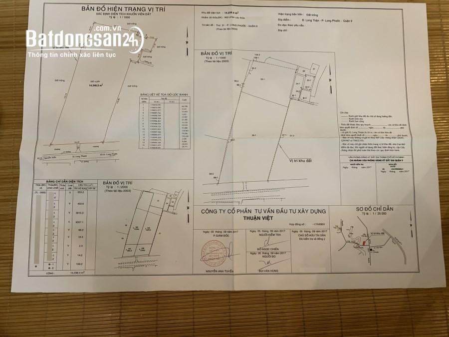 Bán đất Đường Long Thuận, Phường Long Trường, Quận 9 250 tỷ 1,4ha LH: 0907016378