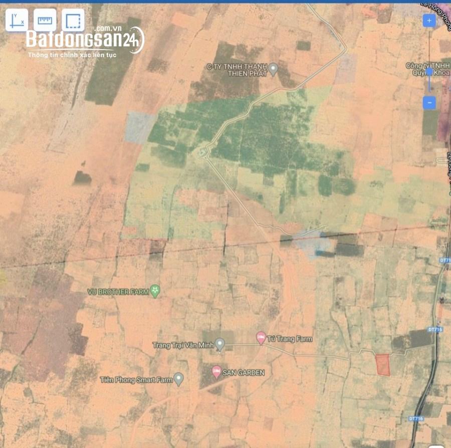 Bán lô đất mặt tiền 8m nằm trong khu trang trại sát đường DT716 giá cực VIP