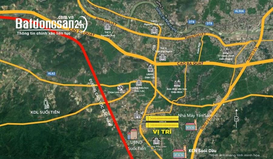 Đất thổ cư sổ đỏ khu du lịch Suối Tiên, Diên Khánh giá chỉ từ 479tr